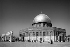 the pilgrims of the rock (bostankorkulugu) Tags: qubbatassakhrah kubbetüssahra domeoftherock templemount jerusalem walk architecture islam holyland israel islamicarchitecture dome people muslim