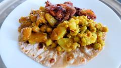 Indian food (Sandy Austin) Tags: panasoniclumixdmcfz70 sandyaustin westauckland auckland northisland newzealand food homemade rotis chickey curry dhall potato