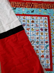 POKEMON QUILTS (Patchwork Daily Desire) Tags: quilting summer pokemonquilt binding batting blocks border cozy crafts giftideas gift friends scraps sky stars red pokeball