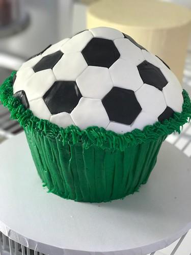 Jumbo Soccer Cupcake