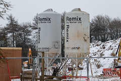 Cement Holders at new construction (Ashley Middleton Photography) Tags: broadblunsdon england europe industrial landmarks snow unitedkingdom weather wiltshire