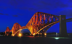 Blue hour icon (images@twiston) Tags: night after dark nightime nighttime spotlights bluehour dusk architecture nightsky longexposure afterdark nightshot lowlight illuminated icon iconic forth bridge network rail forthbridge firth red steelwork sea south queensferry edinburgh west lothian forthrailbridge southqueensferry scotland imagestwiston firthofforth historic scottish forthbridges cantilever estuary northsea steel landscape redoxide paint unesco worldheritagesite