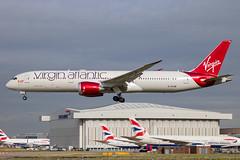 Virgin Atlantic - Boeing 787-9 Dreamliner G-VYUM @ London Heathrow (Shaun Grist) Tags: gvyum vs virgin virginatlantic boeing 787 dreamliner shaungrist lhr egll london londonheathrow heathrow airport aircraft aviation aeroplanes airline avgeek landing 27l