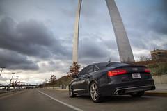 Audi S6 St Louis (Skyrocket Photography) Tags: audi s6 twin turbo v8 quattro awd st louis tucson arizona skyrocket photography dan santamaria moonlight blue metallic urban city c7