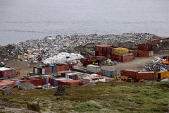 Garbage Dump (oxfordblues84) Tags: eastgreenland greenland ammassalik ammassalikisland tasiilaqgreenland tasiilaq oat overseasadventuretravel garbagedump trash garbage waste container containers shippingcontainers shippingcontainer water ammassalikfjord fjord