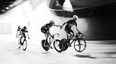 6 Day London - Lee Valley (1096) (Malcolm Bull) Tags: include six day london velodrome lee valley cycling 201810281096edited2web mono