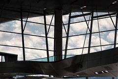 BMW Welt's Curves (cigalamatteo) Tags: bmw museum velt munich architecture lucernario architettura geometrico linee finestra soffitto design sky nikon nikkor d200 tamron