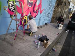 Graffiti (poligrafitus) Tags: 2017 2017sanfroidancexii animales dey digital djkoo djs españa europa eventos formatos galicia graffitis lugares lugo mosca musica otros peces pulpos sanfroidance scratching urbanart