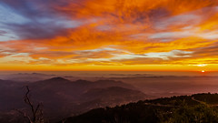 Palomar Mountain Hazy Colorful Sunset (slworking2) Tags: palomarmountainstatepark palomarmountain sunset clouds sky mountains california san diego weather colorful sun haze colors