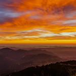 Palomar Mountain Hazy Colorful Sunset thumbnail