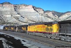 The Helper Helper (jamesbelmont) Tags: helper utah unionpacific riogrande drgw ac4400cw sd40t2 railroad railway train emd ge bookcliffs tunnelmotor coal