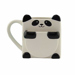 Panda Hug Ceramic Coffee Mug With Cookie Pocket (mywowstuff) Tags: gifts gadgets cool family friends funny shopping men women kids home