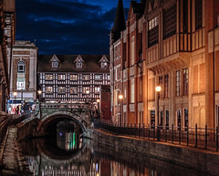 Night reflections (In Explore) (PhredKH) Tags: 85mm architecture bluehour bridge canoneos5dmkiii canonphotography ef85mmf12iiusm fredkh historical historicalbuildings lincoln nightphotography oldtown photosbyphredkh phredkh splendid townsquare twilight people reflection river scenicwater sky water
