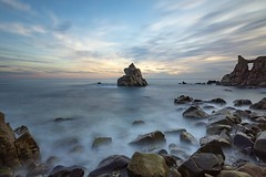 Cala dels Frares (M Guasch) Tags: cala frares atardeceres beach playa sunset long exposition sea sky bue ocean catalonia spain rocks