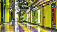 Naples, Italy: Università metro station psychedelic color below ground (nabobswims) Tags: campania hdr highdynamicrange ilce6000 it italia italy lightroom metro mirrorless nabob nabobswims naples napoli photomatix rapidtransit sel18105g sonya6000 station subway ubahn università