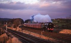 70000 At Settle Junction. 03/12/1994. (briandean2) Tags: 70000 britannia settlejunction cleatop settlecarlislerailway steam railway ukrailways uksteam