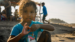 Fatima (genchivictor) Tags: portrait child childhood sand beach blue