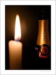 The great taste of Brut (G. Postlethwaite esq.) Tags: brut dof macro newyear bokeh bottle candle celebration champers closeup depthoffield fizz flame label photoborder poshlager selectivefocus unlimitedphotos