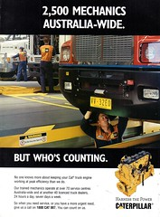 2001 CATERPILLAR Truck Engines Aussie Original Magazine Advertisement (Darren Marlow) Tags: 1 2 20 2001 c caterpillar t truck e engine tractor g grader d dozer cool collectible collectors classic a automobile v vehicle u s us usa united states american america 00s