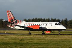 G-LGNA Saab 340B EGPH 07-12-18 (MarkP51) Tags: glgna saab 340b loganair lm log turboprop edinburgh airport edi egph scotland aviation airliner aircraft airplane plane image markp51 nikon d7200 nikon70200f4vr sunshine sunny planeporn