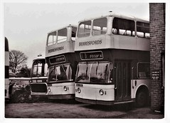 A Second Life With Berresfords. (ManOfYorkshire) Tags: ncme northern counties bodywork leyland atlantean bus buses secondhand berresfords midlands nottingham exnottingham yard coach cannibalised bw private bty405b dau418c