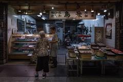 Page (karinavera) Tags: night photography urban ilcea7m2 japan market street store people kyoto