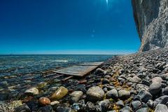 Møns Klint Coast (brotfresser.de) Tags: coastline shore shoreline coast beach seascape horizon over water surf ocean coastland seashore seacoast walimex canon eos 70d 8mm fisheye denmark mons klint chalk cliffs møns stone blue
