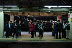 night platform (kasa51) Tags: people street station platform night light yokohama japan