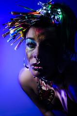 Strisls portrait Series 3 of 16 (Jef Harris) Tags: paintbrushes rave lifx portrait creativemakeup makeupartist beauty beautymua ottawacanada model nikond7000 mua fashion makeupupoftheday mask photooftheday art facepainting