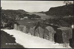 Postkort fra Agder (Avtrykket) Tags: bolighus fjord hus postkort skog stabbestein vei tvedestrand austagder norway nor