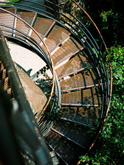 Staircase (Andrew H Wagner | AHWagner Photo) Tags: fujifilmga645i fujifilmga645ipro fujiga645i fujifilmga645 645 ga645 fuji fujifilm mediumformat 120film rangefinder thefindlab grain grainy filmgrain analog film filmshooters find filmphotography analogfilm colorflm colorfilmnegative negativefilm 120format portra160 kodak kodakportra kodakportra160 portra wv westvirginia harpersferrynationalhistoricalpark nationalhistoricalpark harpersferry stairs