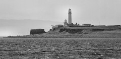 Scotland West Highlands Argyll the lighthouses on Pladda Island 1 July 2018 by Anne MacKay (Anne MacKay images of interest & wonder) Tags: scotland west highlands argyll lighthouses lighthouse pladda island monochrome blackandwhite landscape sea 1 july 2018 picture by anne mackay