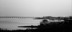 6Q3A9882 (www.ilkkajukarainen.fi) Tags: oceancity sea meri blackandwhite monochrome life visit travel travelling happy maryland bridge silta morning hote view