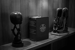 (alwaysforwardphotography) Tags: prime 35mm f18 d5500 nikon bw blackandwhite art dictionary webster display chapel church chicago downtown