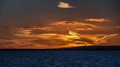 Sunset at Stärnö (tonyguest) Tags: sunset clounds sea water stärnö karlshamn blekinge sweden tonyguest windturbines