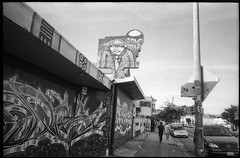 West Oakland (icki) Tags: ca california martinlutherking oakland october2018 blackandwhite graffiti street
