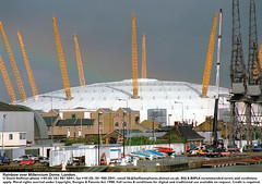 Millennium dome rainbow 1 (hoffman) Tags: boat canoe car city crane docklands dome horizontal house housing milenium milennium millenium millennium rainbow river riverside thames warehouse water weather building construction greenwich outdoors pylons o2 architecture architectural davidhoffman wwwhoffmanphotoscom london uk