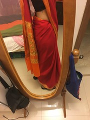 sari and fall (olive witch) Tags: 2018 abeerhoque bangladesh bd dec18 december dhaka indoors me mirror night reflection sari