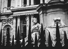 Britannia (justingreen19) Tags: britannia england fuji fujifilm london queenannestatue squaremile stpauls stpaulscathedral statue uk x100f architecture churchyard city justingreen19 metalrailing mono railing windows listedbuilding figure