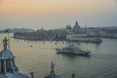 Venice sunset from above (y.mihov, Big Thanks for more than a million views) Tags: venice venezia venneto church cloudy trespass travel tourist town sightseeing sonyalpha sigma skyes sea street sunset stone europe evening water wealth wide boat ship italy islands isle outdoor