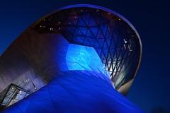 Munich - Aliens! (cnmark) Tags: germany munich deutschland münchen bayern bavaria milbertshofenamhart bmwwelt building architecture exhibition event delivery center gebäude architektur night nacht nachtaufnahme blue hour blaue stunde ©allrightsreserved