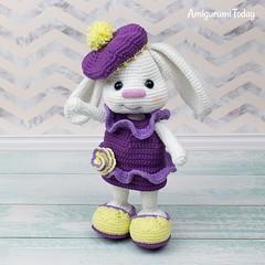 Free Pretty Bunny Crochet Pattern (amigurumidoll) Tags: amigurumi pattern amigurumis amigurumipattern amigurumidoll crochet