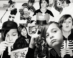 Jonathan is Ten Today (Anvilcloud) Tags: jj jonathan grandkids bw collage photoshop