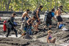 Saggy Tanks (agasfer) Tags: 2018 hawaii thebigisland scuba diving people lava pentax k3 smcpentaxda45855300mmed
