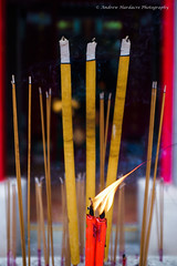 Candle in the Wind (57Andrew) Tags: candles hongkong fujix100f incensesticks smoke stanley tinhautemple