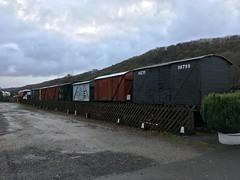 The new siding stock display at Levisham 20nov18