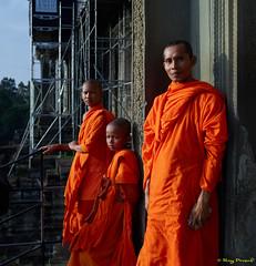 Spirituality? (Roy Prasad) Tags: green cambodia angkorwat temple travel asia hindu buddhist relic architecture prasad royprasad phaseone xf schneider landscape monk orange