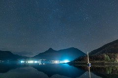Night Sky 2 (hotspurjohn) Tags: nightsky ballachulish glencoevillage sgurrnamfiannaidh sgurrnaciche lochleven invercoe mountain munro scottishlandscape landscape scotland discoverglencoe nightphotography nightscape