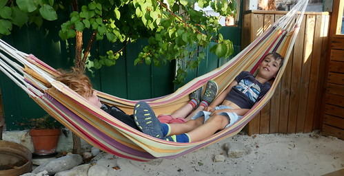 Two Boys In A Hammock