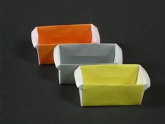 Parallelepipedic masu with handles (Mélisande*) Tags: mélisande origami box masu